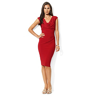Lauren Ralph Lauren Cap Sleeve Sheath Dress