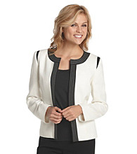 Kasper® Plus Size Tweed Flyaway Jacket