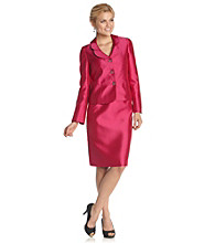 Kasper® Plus Size Wing Collar Skirt Suit
