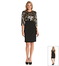 Alex Evenings® Sequined Bolero Jacket Dress