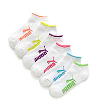 PUMA® 6-pk. Athletic Logo No Show Socks - White