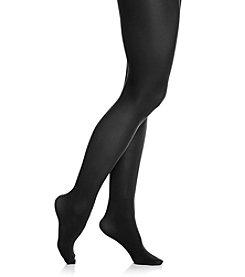 HUE® Black Opaque Tights