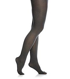HUE® Graphite Heather Super Opaque Tights