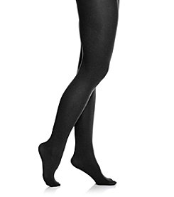HUE® Black Super Opaque Tights