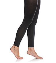 HUE® Super Opaque Footless Control Top Tights - Black