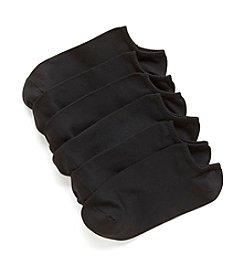 HUE® Black Microfiber Liner Socks