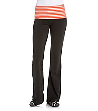 Grane Juniors' Foil Striped Waistband Flare Yoga Pant