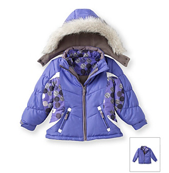 London Fog® Girls' 4-16 Purple Systems Jacket