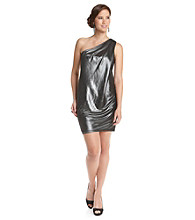 Vince Camuto® One-Shoulder Shimmer Dress
