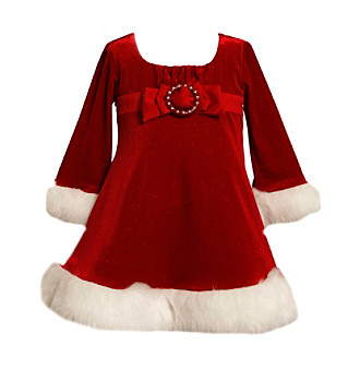Bonnie Jean® Girls' 12M-6X Red Santa Dress