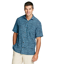 Paradise Collection® Men's Geo Print Silk Shirt