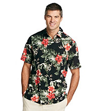 Paradise Collection® Men's Tropical Print Silk Shirt