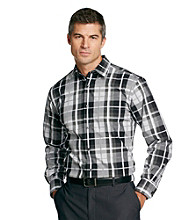 Kenneth Roberts Platinum® Men's Silver Oversized Plaid Woven
