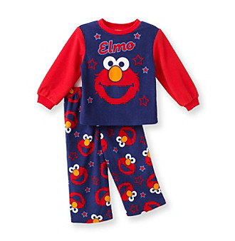 Sesame Street® Boys' 2T-4T Navy/Red 2-pc. Elmo Print Long-Sleeve Pajama Set