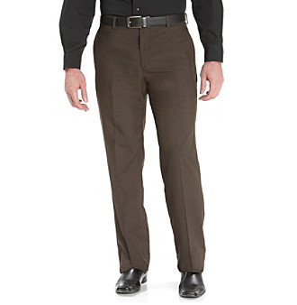 Kenneth Cole REACTION® Men's Brown Micro Crosshatch Dress Pant