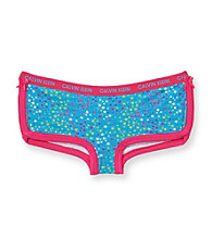 Calvin Klein Girls' 6-16 Pink/Blue Star Print Roller Boyshort Panties
