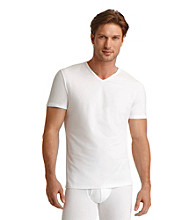 Jockey® Men's White Cotton Stretch 2-Pack V-Neck