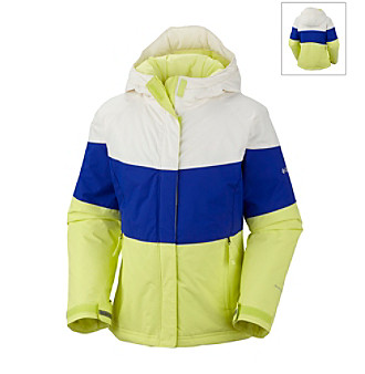 Columbia Girls' 2T-6X Neon/Light Grape Triple Run™ Jacket
