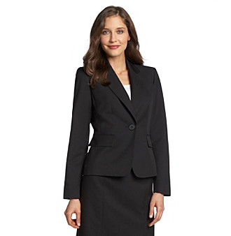Evan-Picone® Notch Collar One-Button Washable Suit Jacket