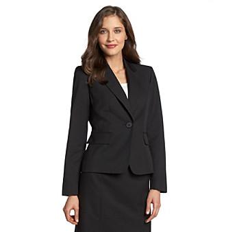 Evan Picone® Notch Collar One-Button Washable Suit Jacket