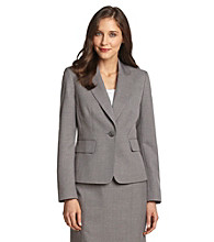 Evan-Picone® Gray Notch Collar One-Button Washable Suit Jacket