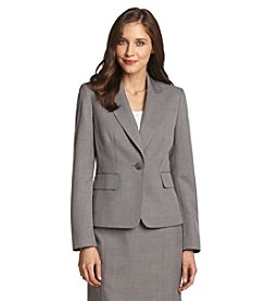 Evan Picone® Gray Notch Collar One-Button Washable Suit Jacket
