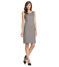 Evan-Picone® Grey Short Washable Suiting Dress