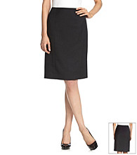 Evan-Picone® Black Kick Pleat Washable Skirt