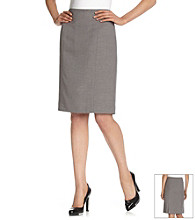 Evan-Picone® Grey Kick Pleat Washable Skirt