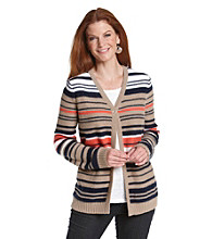 Breckenridge® Striped Cardigan