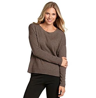 Vertical Design® Polka Dot Hi-Low Pullover
