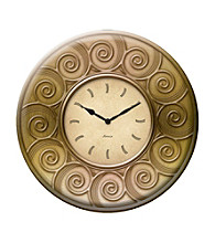 FirsTime Gold Resin Outdoor Clock