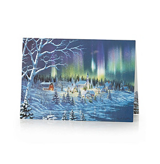 Performing Arts Northern Lights Box of 14 Holiday Cards