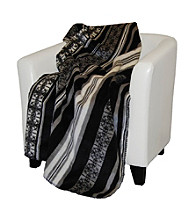 Denali® Black Stripe Microplush Throw