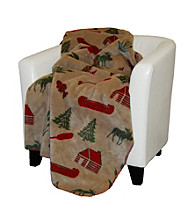 Denali® Moose Camp and Sage Microplush Throw