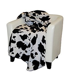 Denali® Black Cow Microplush Throw