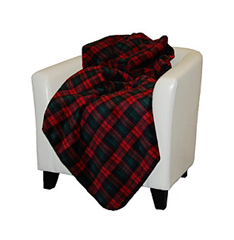 Denali® Classic Plaid and Spruce Microplush Throw