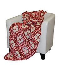 Denali® Moroccan and Garnet Microplush Throw