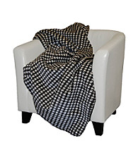 Denali® Houndstooth and Black Microplush Throw