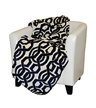 Denali® Lapis Interlock Microplush Throw