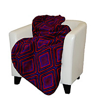 Denali® Lava and Black Microplush Throw