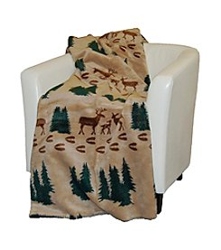 Denali® Deer and Spruce Microplush Throw