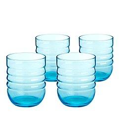 Artland® Spa Aqua Set of 4 Double Old Fashion Glasses