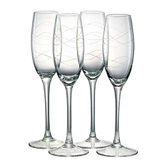 Artland® Currents Set of 4 Champagne Flutes