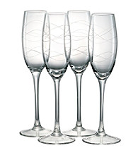 Artland® Currents Set of 4 Champagne Flutes