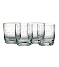 Artland® Currents Set of 4 Double Old Fashion Glasses
