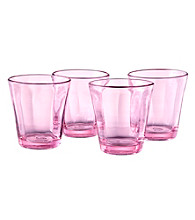 Artland® Kassie Pink Set of 4 Double Old Fashion Glasses