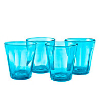 Artland® Kassie Turquoise Set of 4 Double Old Fashion Glasses