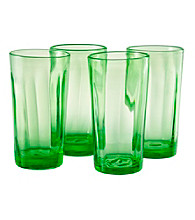 Artland® Kassie Kiwi Set of 4 Highball Glasses