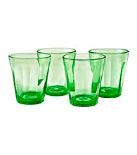 Artland® Kassie Kiwi Set of 4 Double Old Fashion Glasses
